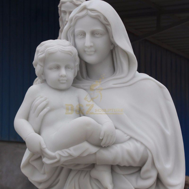 High Quality Outdoor Garden Stone Virgin Mary And Jesus Statue