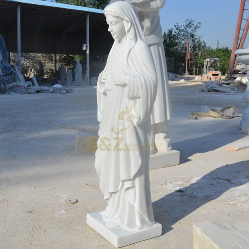 Hand Carved Stone Marble Statue Of Mother Mary