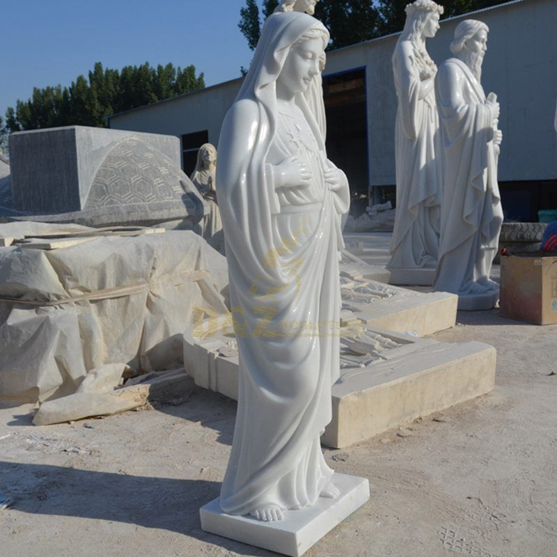 Europe Accessories Catholic And Religious Mary Marble Statues