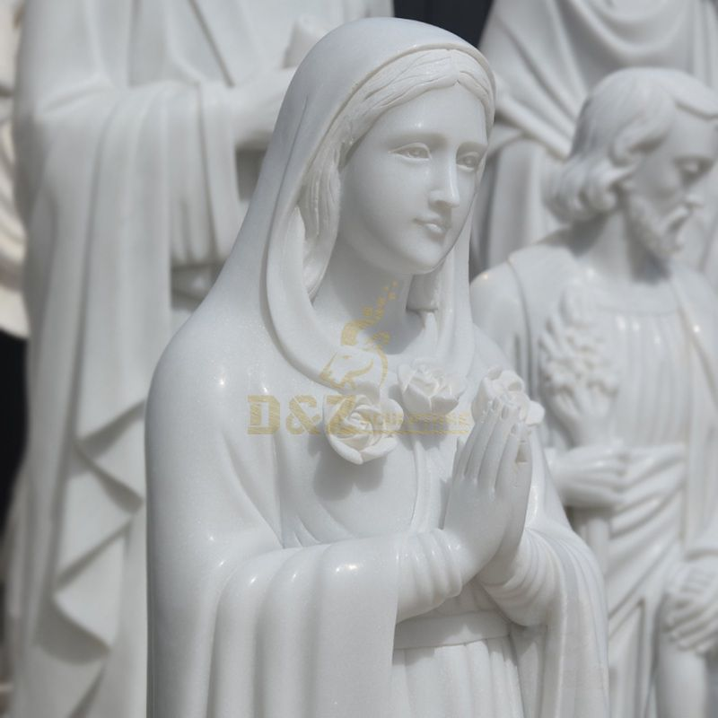Holy Mother Saint Mary Marble Stone Statue