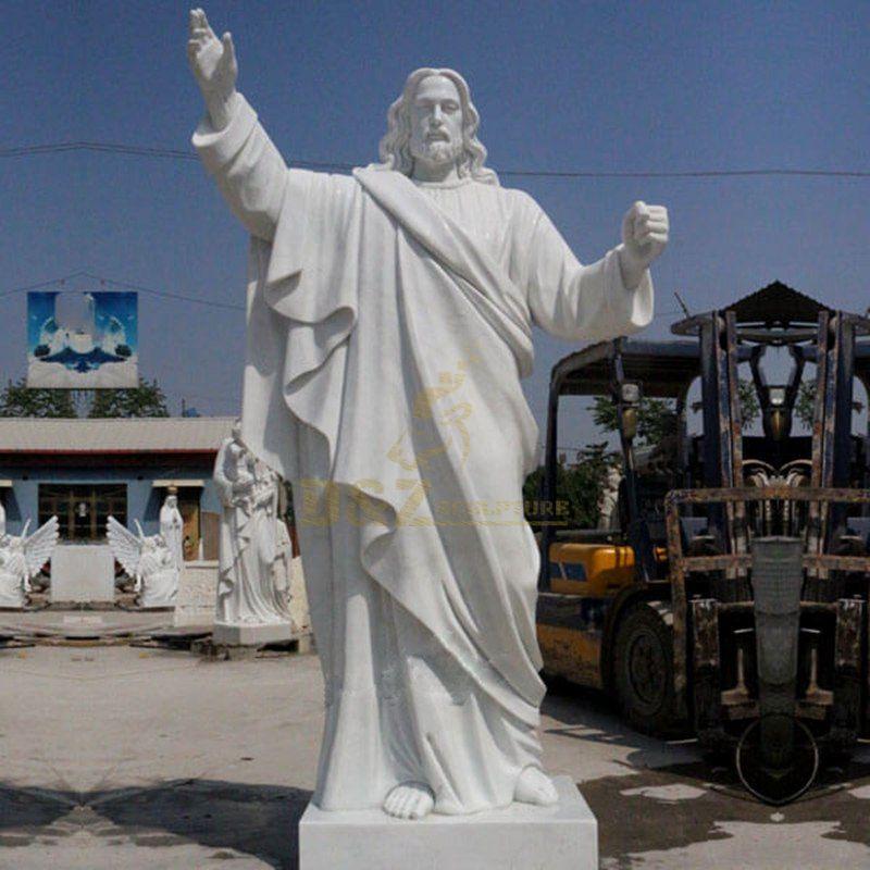 White Marble Jesus Catholic Statues