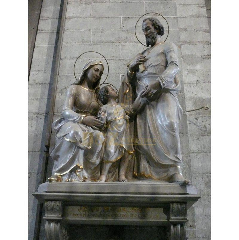 European Style Religious Home Decoration Catholic Holy Family Statue