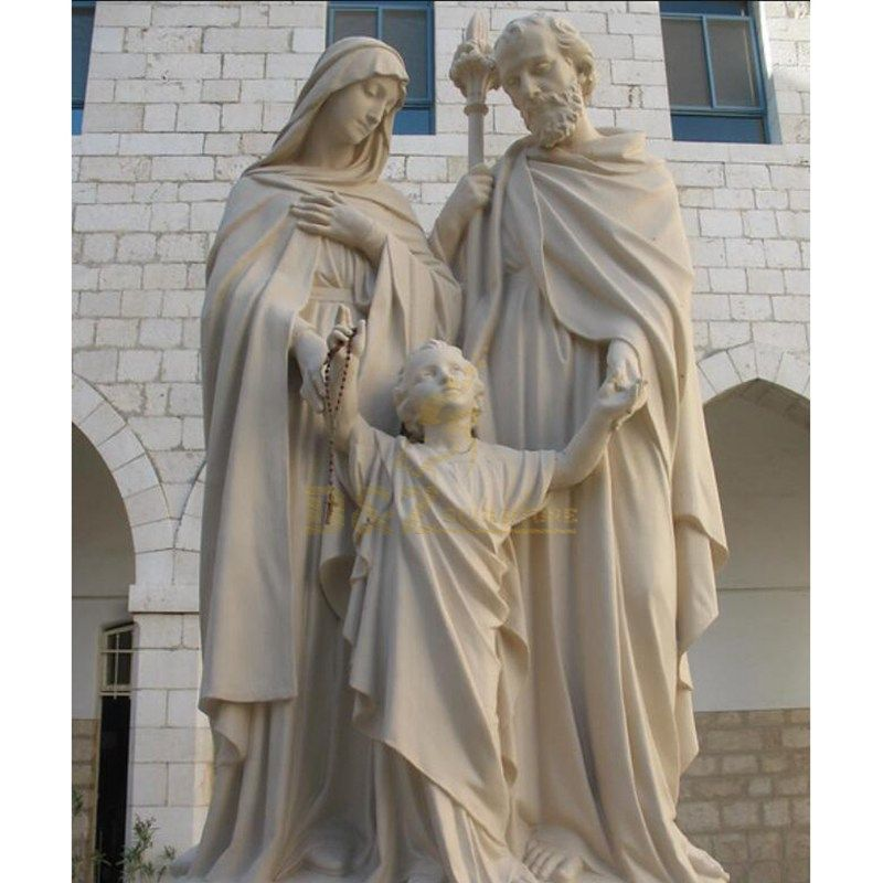 Holy Family Statue With Joseph Baby Jesus Mary Statue
