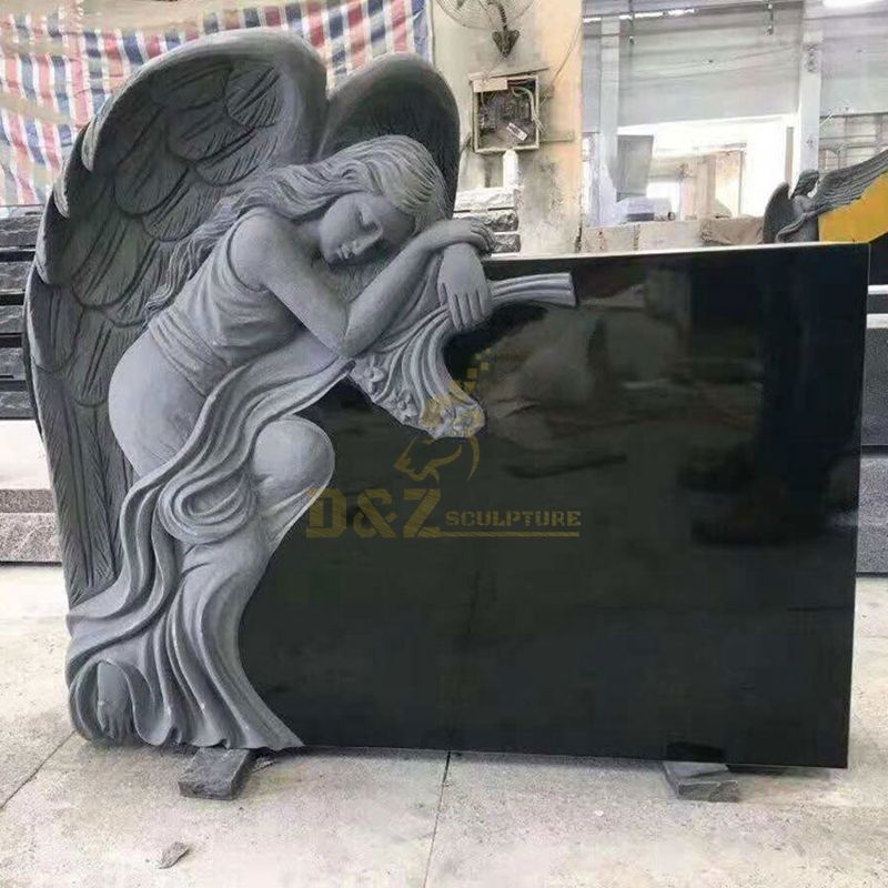 New Product United Tombstone Design Angel Carved