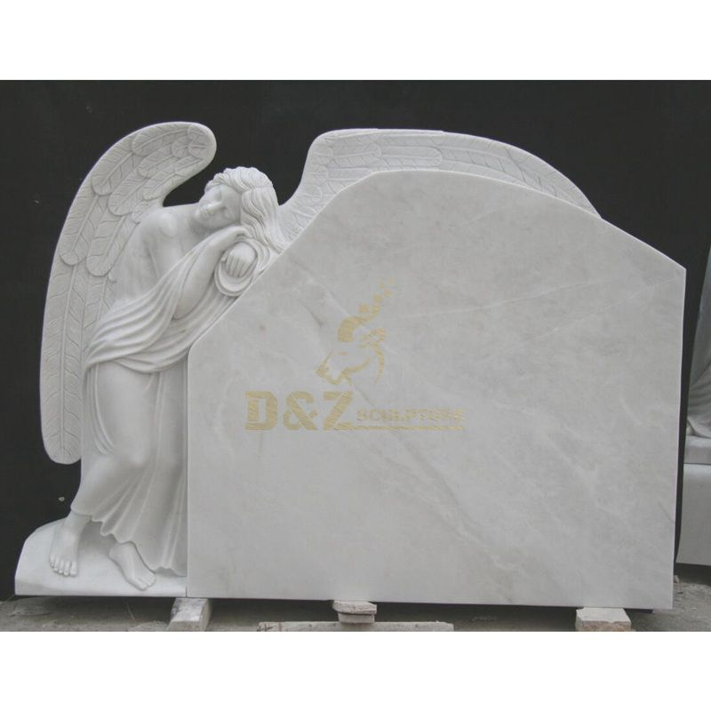 Hand Carving Marble Monument Black Tombstone Angel Price For Sale