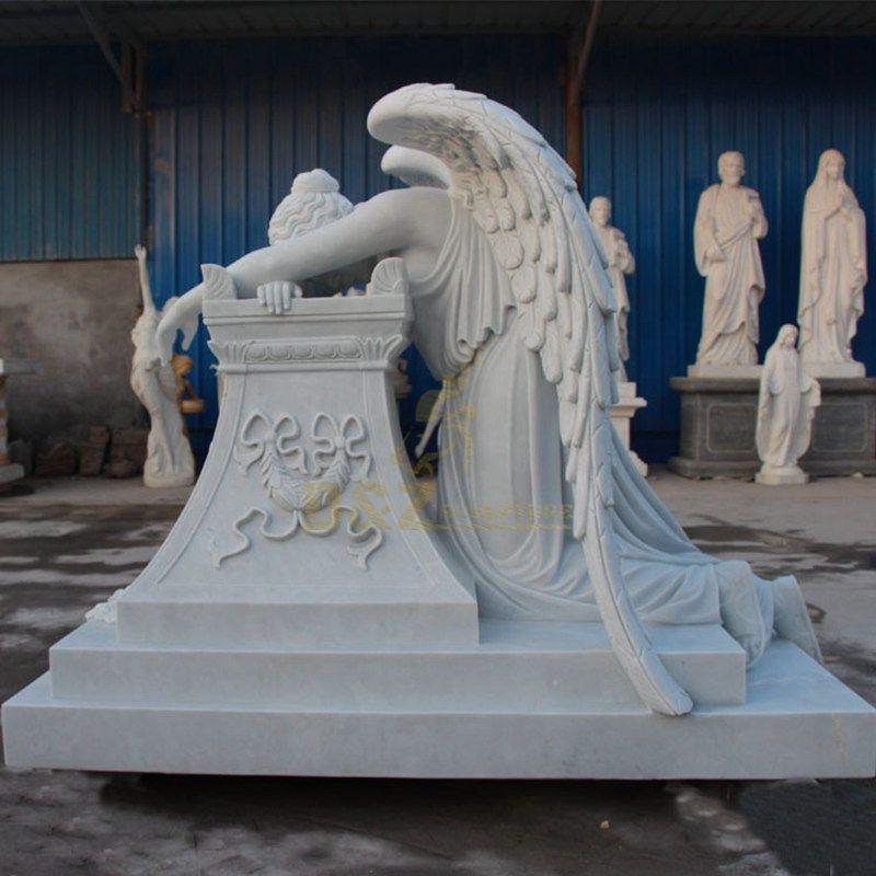 Large Cemetery Marble Weeping Angel Tombstone Angel Gravestone