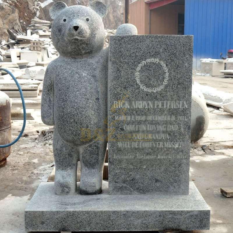 Teddy Bear Design Cheap Headstones For Babies