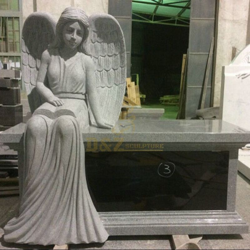 Classic Popular Unique Stone Memorial Marble Tombstone With Angel