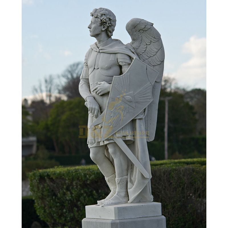 Hot Sale Church Decoration Cemetery Sculpture Large White Angel Statues