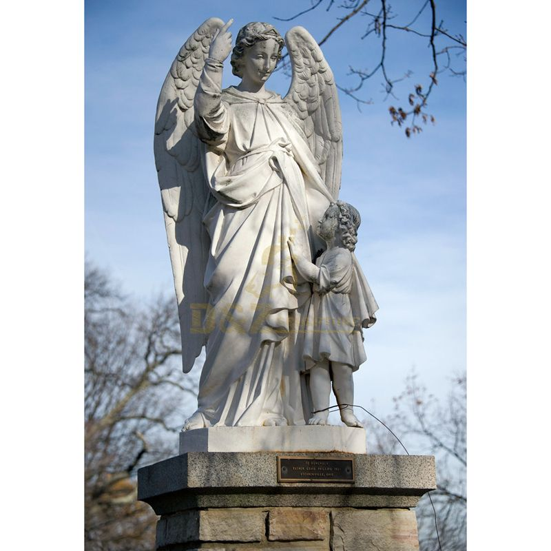 Life Size Outdoor Decoration Marble Angel For Sale