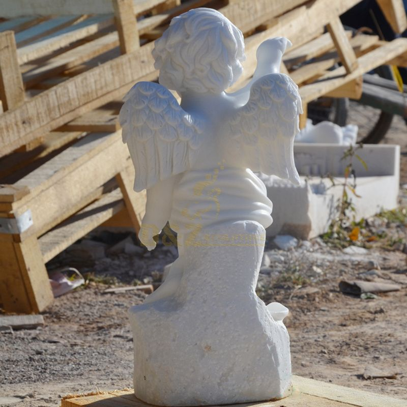 Indoor Or Outdoor Wholesale Stone Lovely Praying Little Angel Model Figurines Statues