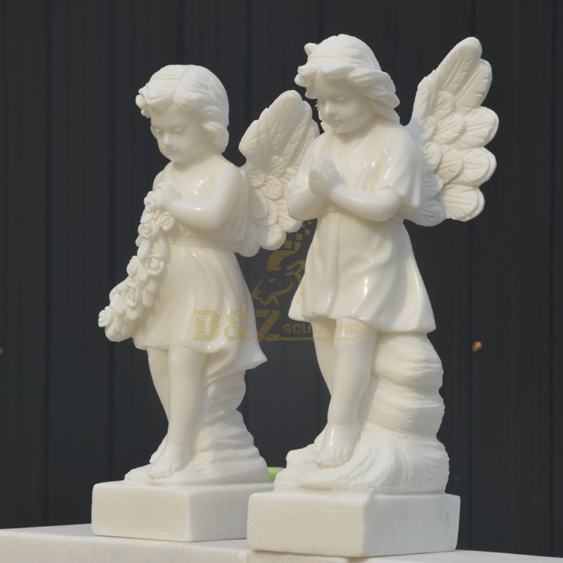 Garden Marble Stone Little Angels Statues And Sculptures