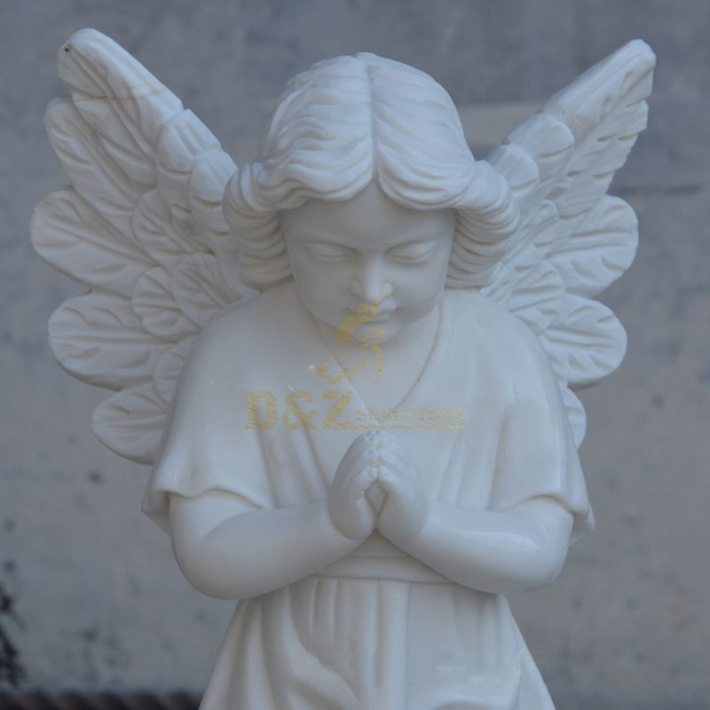Marble Color Matching European Child Angel Statue Sculpture