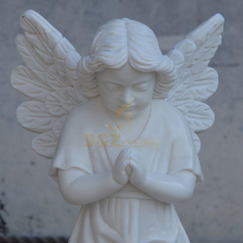 Garden Decoration White Marble Baby Angel Stone Statue