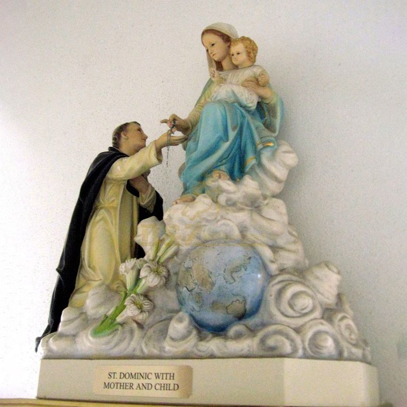 Factory Custom Resin Mary Statues With Angel Baby Wholesale Religious Figurines