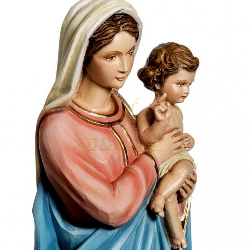 Custom Resin Catholic Religious Items Jesus Christ Statue And Baby Jesus Mary Figures