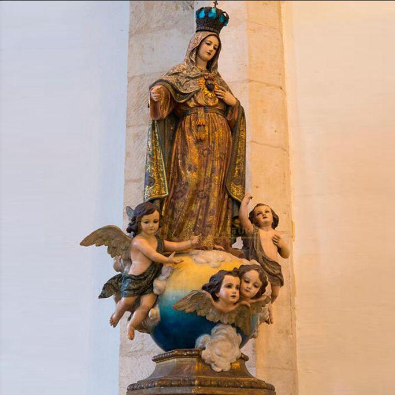 Church Decoration Fiberglass Virgin Mary Statues With Jesus