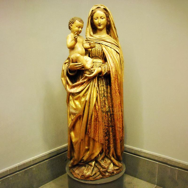 China Factory Promotion Virgin Mary With Infant Jesus Statue