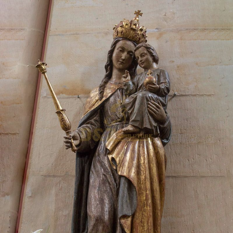 Western Church Crafts Resin Life Size Mary And Baby Jesus Artifact Sculptures