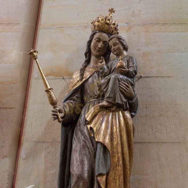 Museum Display Resin Virgin Mary And Baby Jesus Sculpture Fiberglass Religious Statues