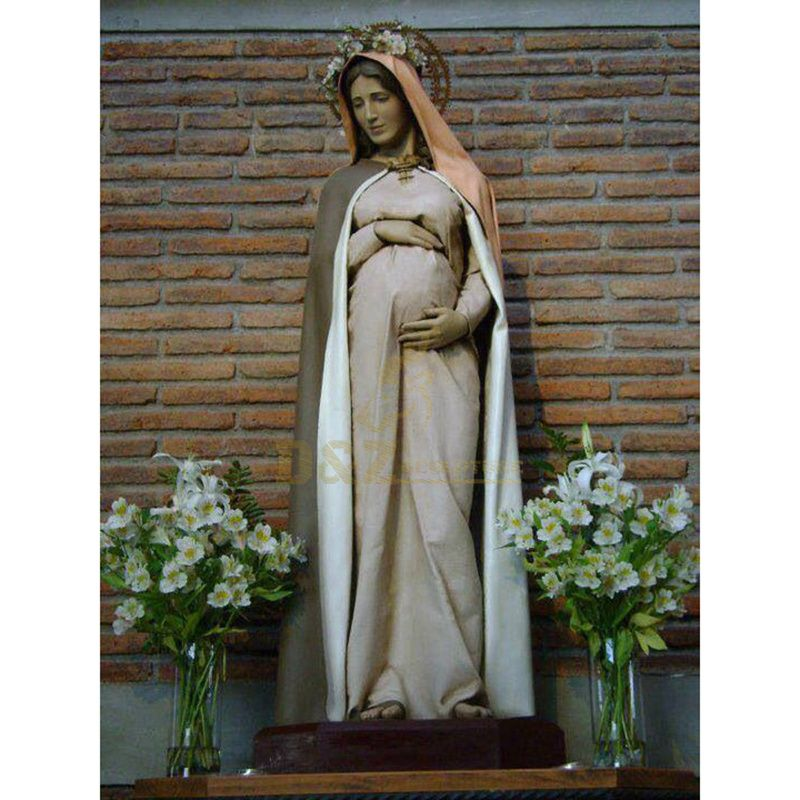 Artificial Religious Church Figure Holy Fiberglass Saint Pregnancy Mary Joseph Family Statue