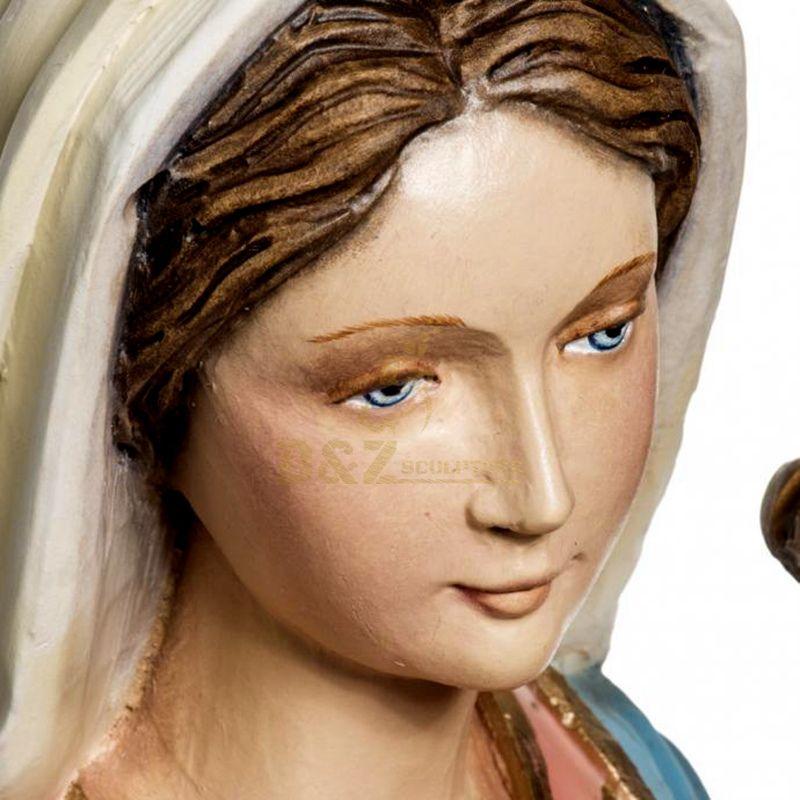 Fiberglass Virgin Mary With Infant Jesus Statue