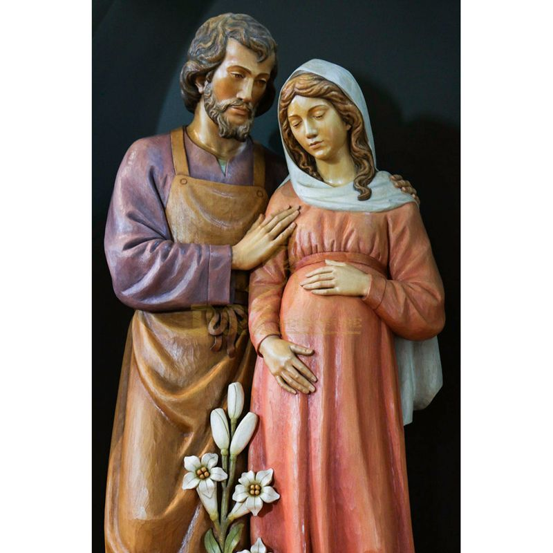 Outdoor Ornaments Religious Resin Statues Pregnant Mary Statue