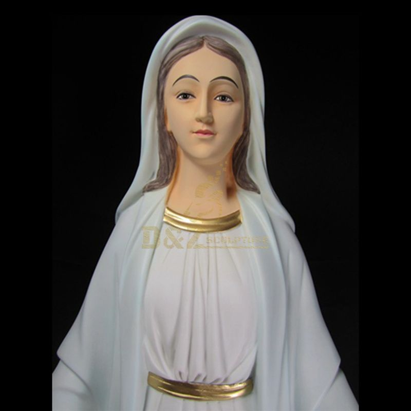 Resin Pure White Mary Figurine Virgin Mary Statues