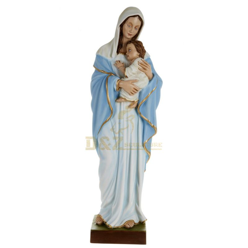 Resin Religious Virgin Mary Statues Baby Jesus Figurines Religious Crafts