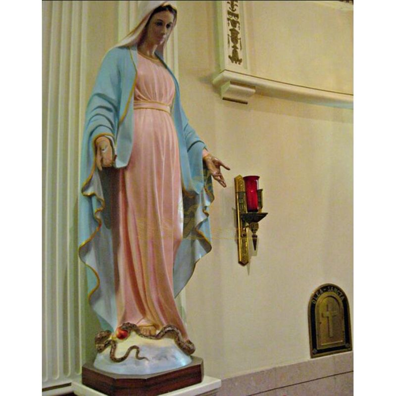 Resin Christmas Decoration Virgin Mary Statues For Decor