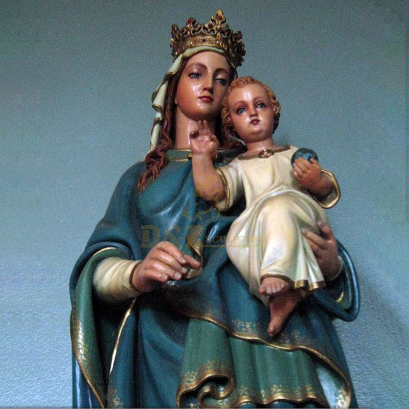 Home Decoration Use Resin Craft Religious Virgin Mother Mary Jesus Statues