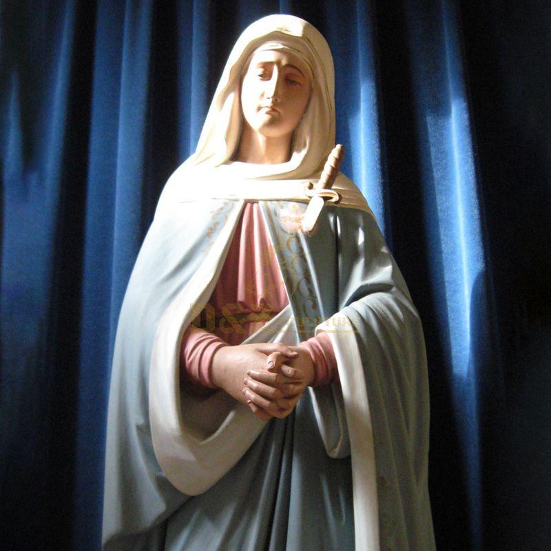 Lourdes Blesses Virgin Mary Resin Statues Religious Catholic Figurine