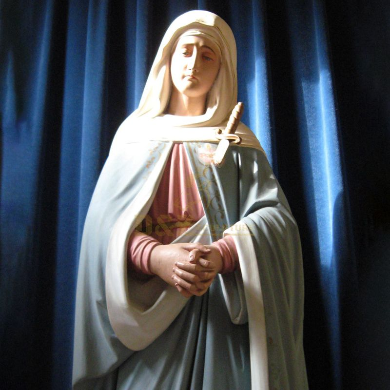 Customized Catholic Polyresin Full Color Outdoor Religious Virgin Mary Resin Statue