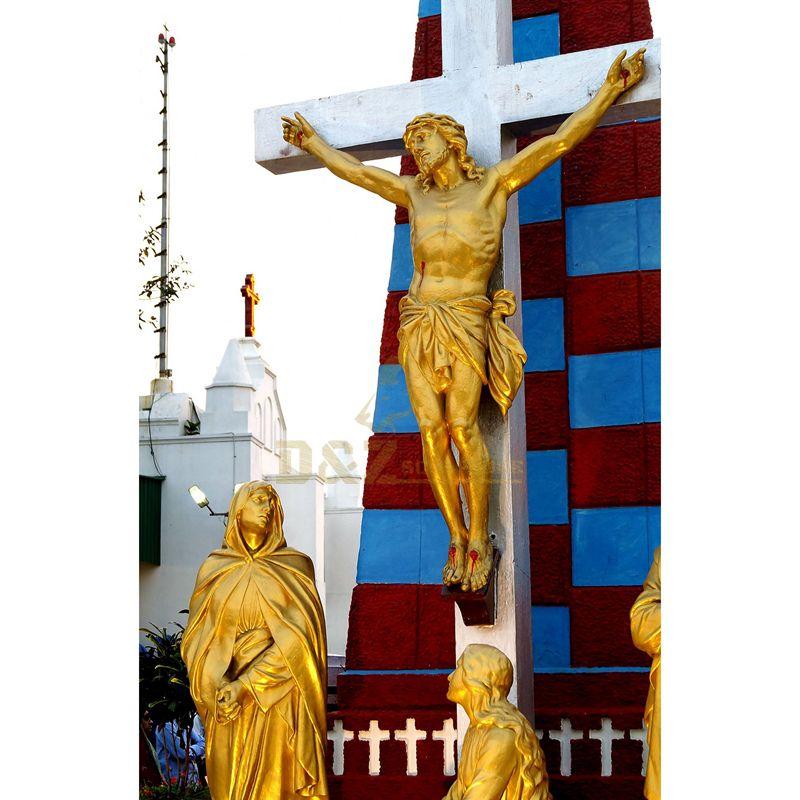 Resin Crafts Jesus Cross Crucifix Statue For Souvenir