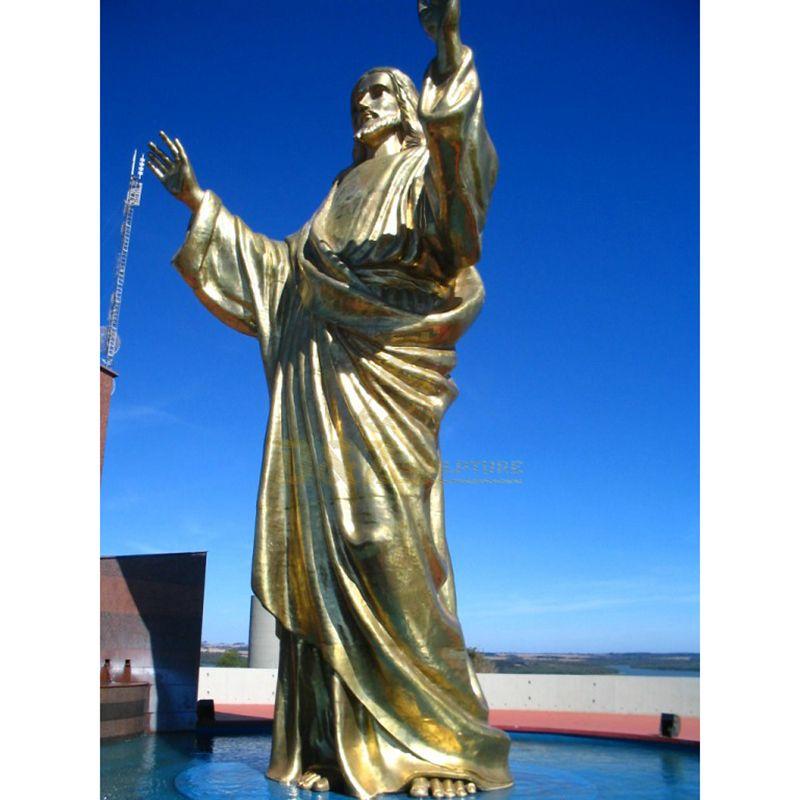 Customized Large Meditating Bronze Jesus Christ Statue Manufacturer For Garden