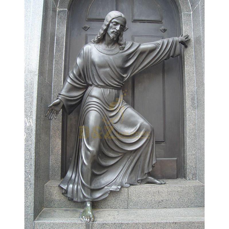 Customized Antique Bronze 3D Metal Crafts Jesus Statue