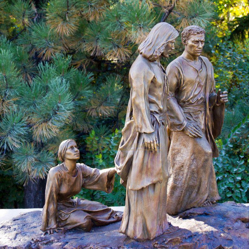 Garden Decoration Religious Sculpture Bronze Jesus Statue