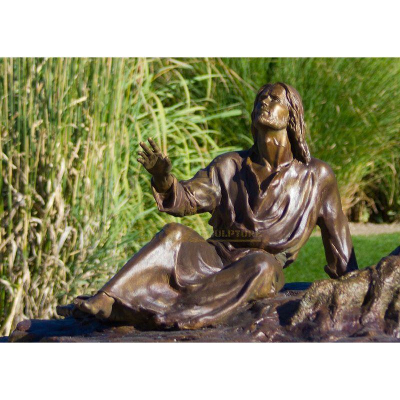 Life Size Antique Bronze Jesus Statue For Sale