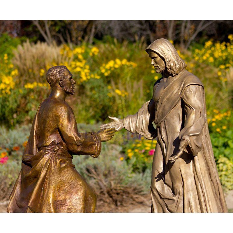 Bronze Christ Redeemer Jesus Statue Opening Arms