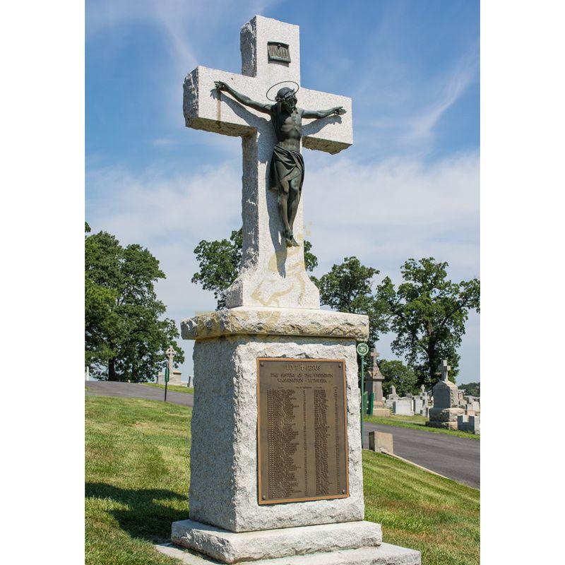 Bronze Statue Jesus Christ Cross Sculpture