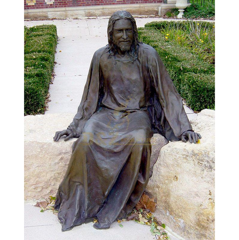 Outdoor Garden Giant Decoration Metal Craft Bronze Christian Jesus Statue