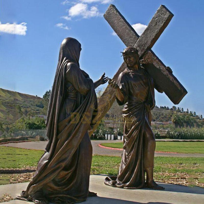 Outdoor Garden Decoration Antique Religious Metal Bronze Jesus Statue