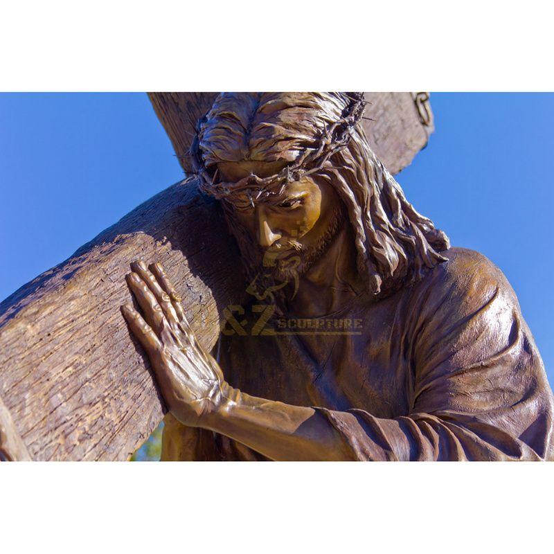 Bronze Meditating Christian Jesus Statue For Church Decoration