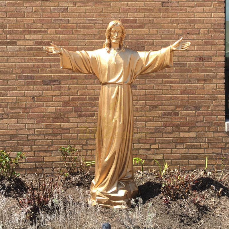 meditating jesus statue