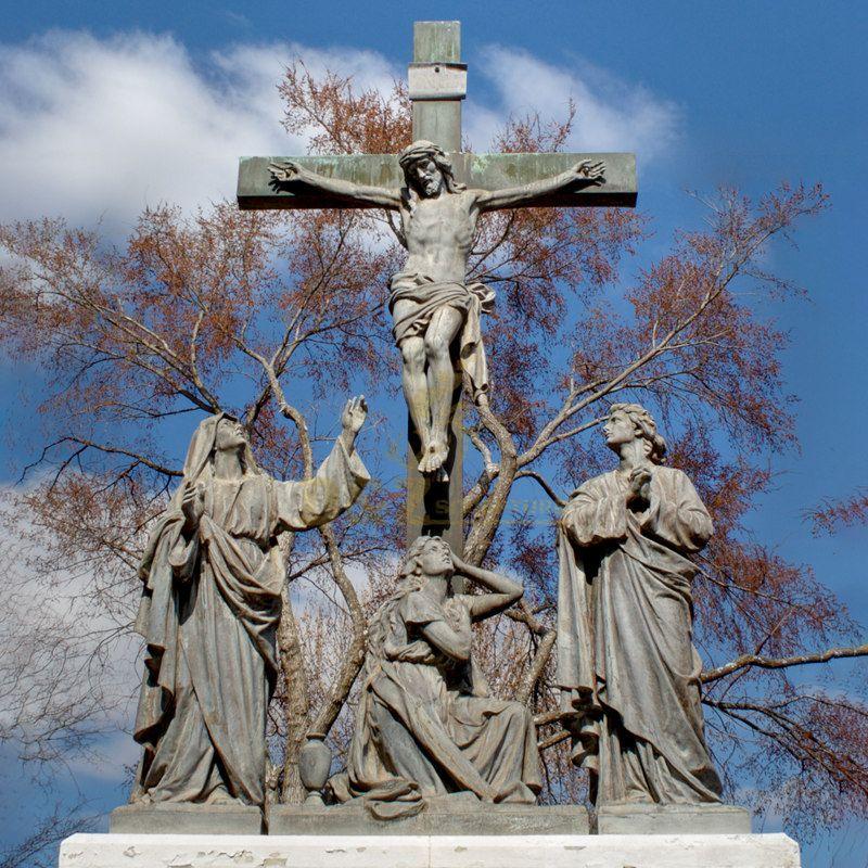 Life Size Catholic Religious Sculpture Bronze Jesus With Children Statue