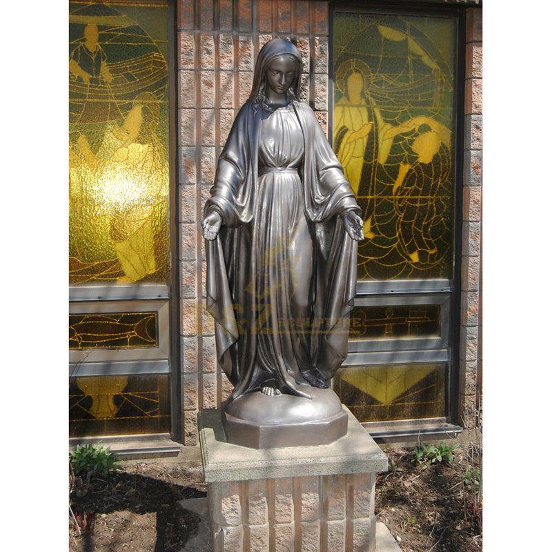 Catholic Religious Statues Bronze / Brass Virgin Mary Statue
