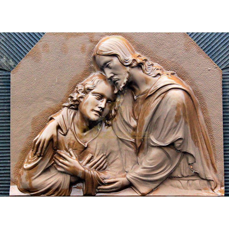 Hot Sale Relievo Handmade Bronze Virgin Mary Statue
