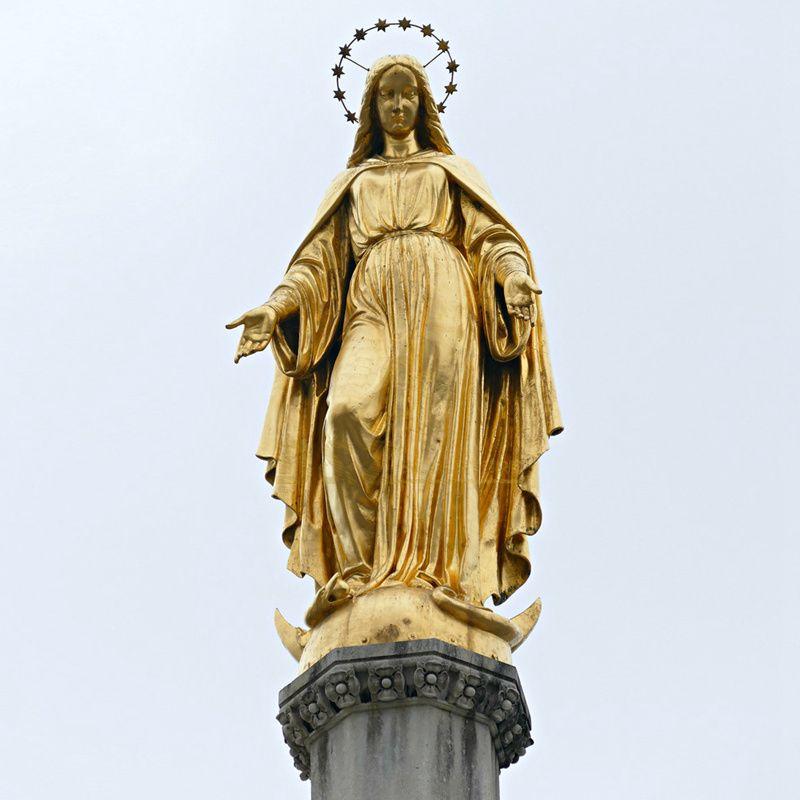Customized Church Decoration Catholic Religious Sculpture Life Size Virgin Mary Garden Statue