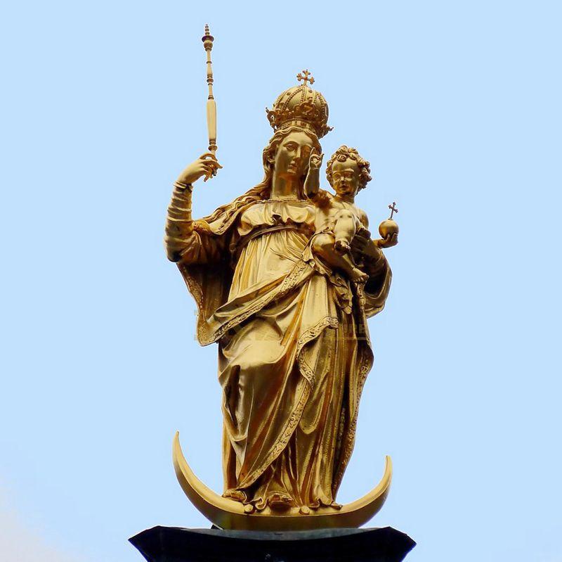 Hot Sale Personalized Handmade Bronze Virgin Mary Bronzed Statue