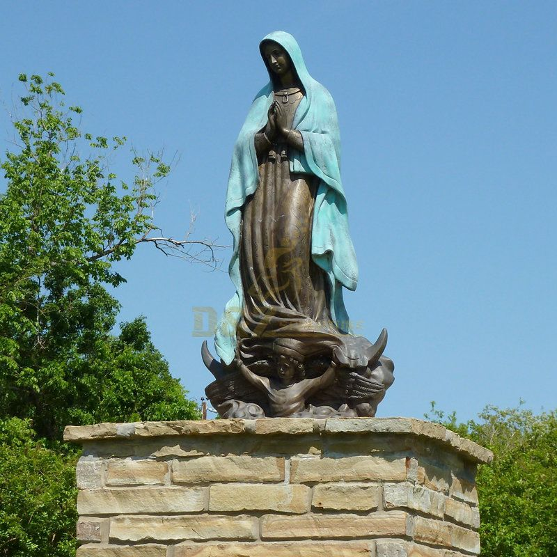 Large Bronze Sculpture Catholic Religious Virgin Mary Statue